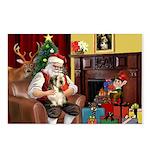 Santa's Petit Basset Postcards (Package of 8)