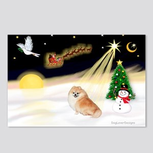 Night Flight/Pomeranian Postcards (Package of 8)