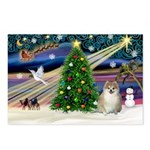 XmasMagic/ Pomeranian Postcards (Package of 8)