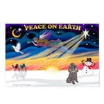 XmasSunrise/Poodle (min) Postcards (Package of 8)