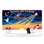XmasSunrise/2 Poodles Postcards (Package of 8)