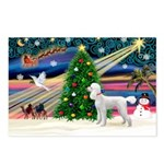 Xmas Magic & Poodle Postcards (Package of 8)