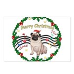 XmasMusic1MC/Pug 11 Postcards (Package of 8)