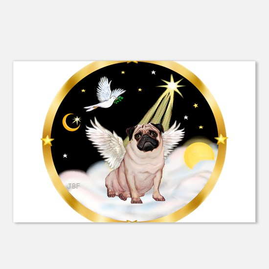 Night Flight/ Pug Postcards (Package of 8)