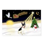 Night Flight/Rat Terrier Postcards (Package of 8)