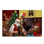 Santa's Rottweiler Postcards (Package of 8)