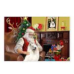Santa's Samoyed Postcards (Package of 8)