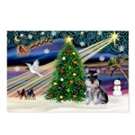XmasMagic/ Min Schnauzer Postcards (Package of 8)