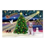 XmasMagic/Min Schnauzer Postcards (Package of 8)