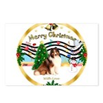 XmasMusic3/Sheltie 7 Postcards (Package of 8)