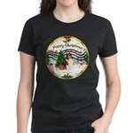 XmasMusic3/Sheltie 7 Women's Dark T-Shirt