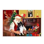 Santa's Bi Black Sheltie Postcards (Package of 8)