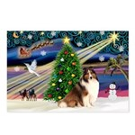 XmasMagic/Sheltie (7R) Postcards (Package of 8)