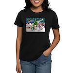 XmasMagic/4 Shih Tzus Women's Dark T-Shirt