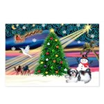 XmasMagic/Shih Tzu Postcards (Package of 8)