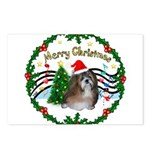 XmasMusic1MC/Shih Tzu Postcards (Package of 8)