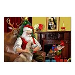 Santa's Red Husky Postcards (Package of 8)