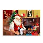 Santa's Sib Husky Postcards (Package of 8)