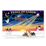 XmasSunrise/2 Silky Ter Postcards (Package of 8)