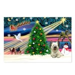 XmasMagic/Skye Terrier Postcards (Package of 8)