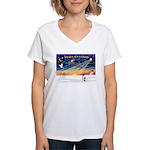 XmasSunrise/Toy Fox T Women's V-Neck T-Shirt