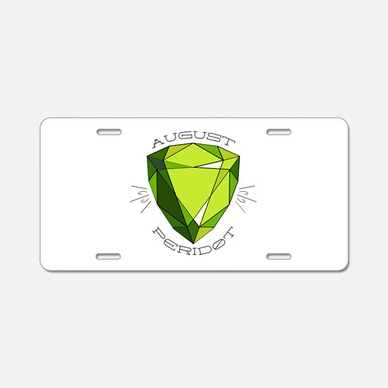 August Peridot Aluminum License Plate