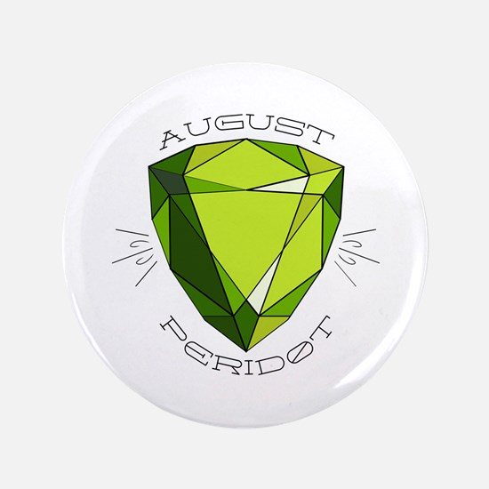 "August Peridot 3.5"" Button (100 pack)"