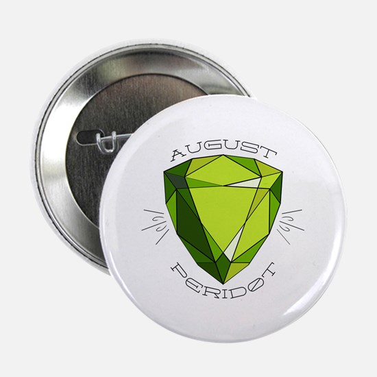"""August Peridot 2.25"""" Button (10 pack)"""