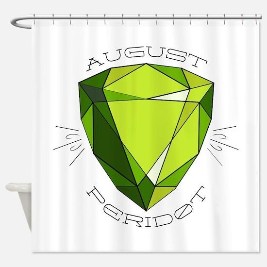 August Peridot Shower Curtain