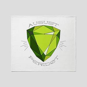 August Peridot Throw Blanket