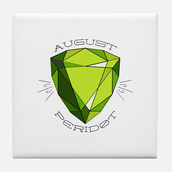 August Peridot Tile Coaster