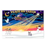 XmasSunrise/Corgi Pup Postcards (Package of 8)