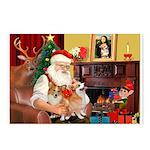 Santa's 2 Corgis (P2) Postcards (Package of 8)