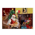 Santa / Welsh Corgi Postcards (Package of 8)