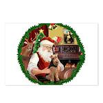 Santa's Welsh T Postcards (Package of 8)