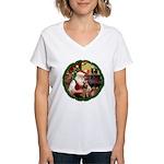 Santa's Welsh T Women's V-Neck T-Shirt