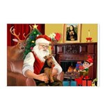 Santa's Welsh Terrier Postcards (Package of 8)