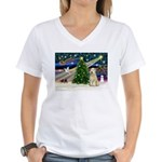 XmasMagic/Wheaten (#10) Women's V-Neck T-Shirt