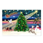 Xmas Magic & Whippet Postcards (Package of 8)