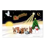 Night Flight/5 Yorkies Postcards (Package of 8)