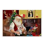 Santa's Yorkie (#13) Postcards (Package of 8)