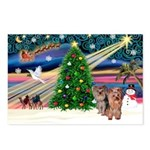 Xmas Magic & Yorkie Postcards (Package of 8)