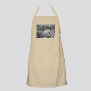 Tangled weeds with red birds Apron