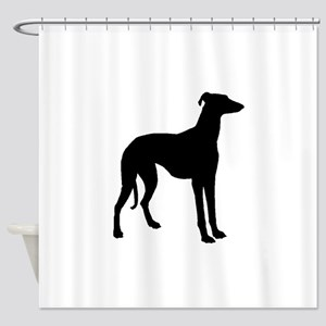 Greyhound Silhouette Shower Curtain