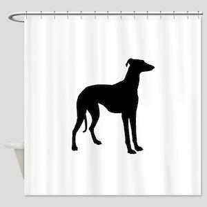 Greyhound Silhouette Shower Curtain