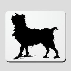 Scruffy Dog Silhouette Mousepad