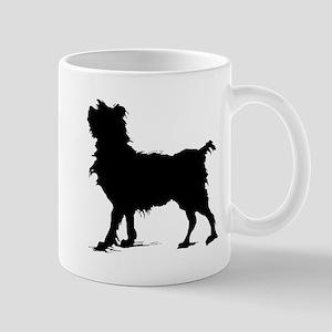 Scruffy Dog Silhouette Mugs