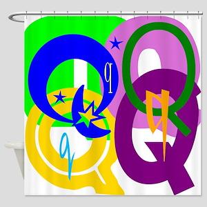 Initial Design (Q) Shower Curtain