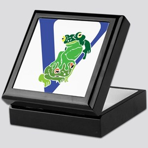 Blue Frog V Keepsake Box