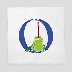 Blue Frog O Queen Duvet